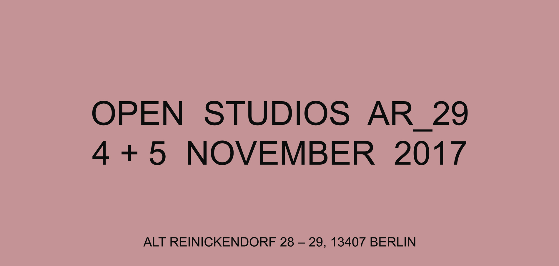 Open Studios 4./5. November